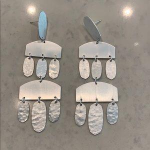 Kendra Scott silver chandelier earrings